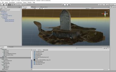 3D Model of Susie Hope Estes' Headstone in Unity