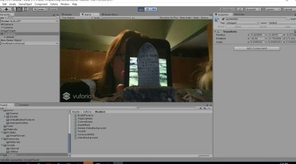 It works! Holding up a Picture of Susie Hope Estes' Headstone on my Phone and the 3d Model of Estes' Headstone appears.